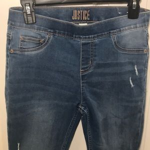 JUSTICE Girl's Sz 16 Stretch Jeans Leggings Nice